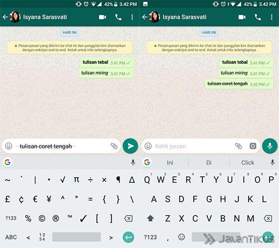 Cara Membuat Tulisan Unik Whatsapp Strikethrough Eba52