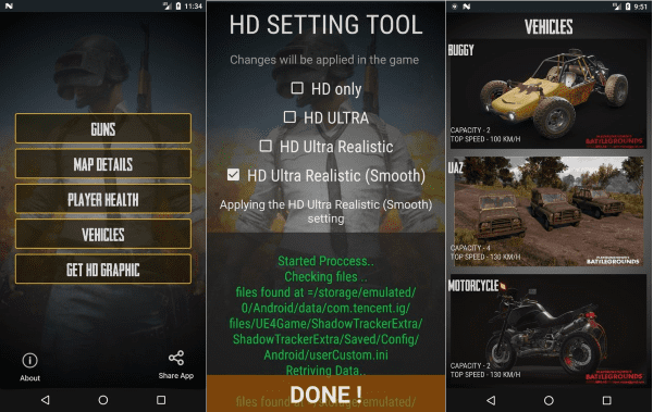 Guide For PUBG Mobile HD Graphics Tool 2.5