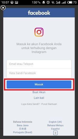 Masuk Instagram Lewat Facebook 3 B88d2