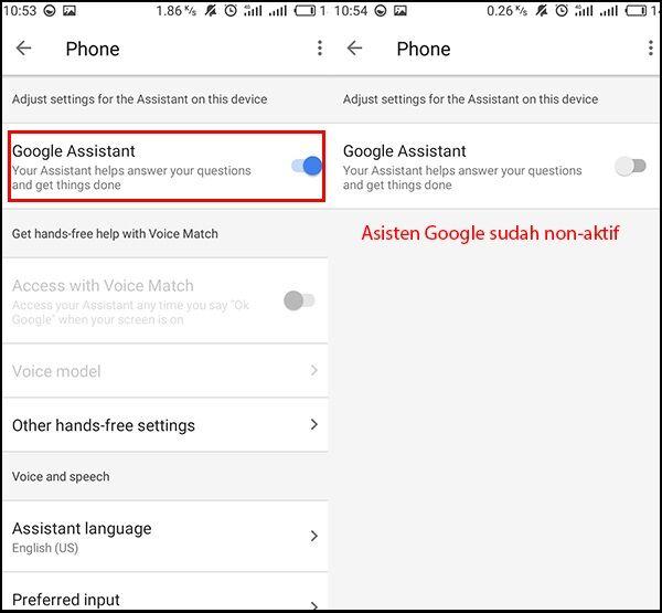 Cara Menghapus Asisten Google 4 796f0