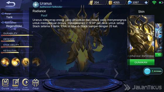 Skill Pasif Uranus Mobile Legends 80bfe