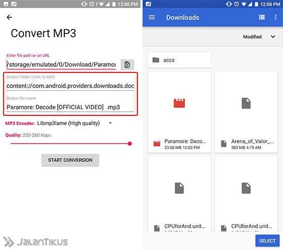 Cara Convert Video Ke Mp3 Android 5 31a25