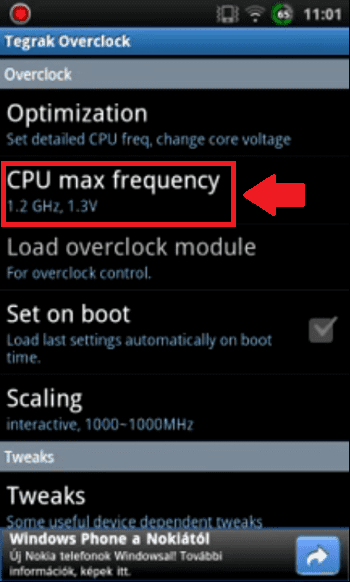 Cara Overclock Android 3 C63ce