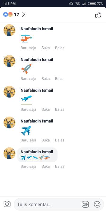 Cara Menambahkan Emoji Pesawat Facebook 2 3e353