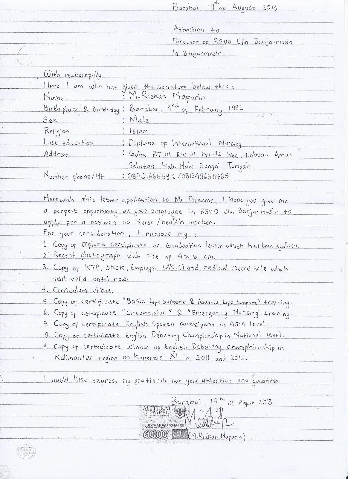 Cara Membuat Lamaran Kerja Tulis Tangan 3 3bfc0