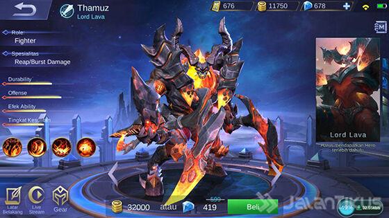 Thamuz Mobile Legends Hero C38a6