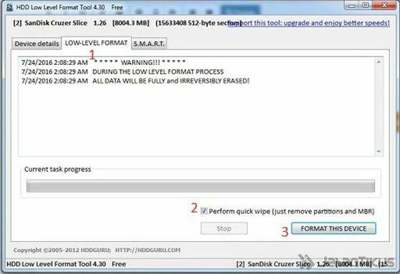 Cara Memperbaiki Flashdisk Rusak Low Level Format Ba30b