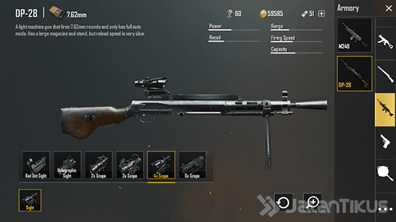Senjata Pubg Mobile Dp28 Ea280