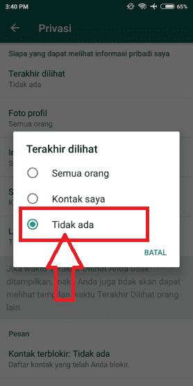 Cara Whatsapp Tidak Terlihat Online 3 4bc3c