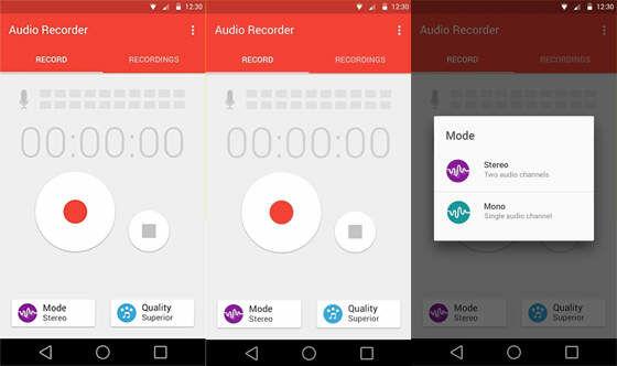 Aplikasi Perekam Suara Audio Recorder A25f9