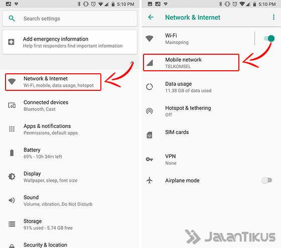 Cara Setting Apn Android 01 D1160