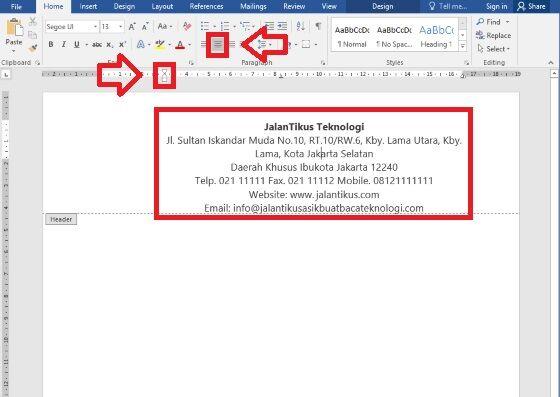 Cara Mudah Membuat Kop Surat Resmi Manual 3 8e9da