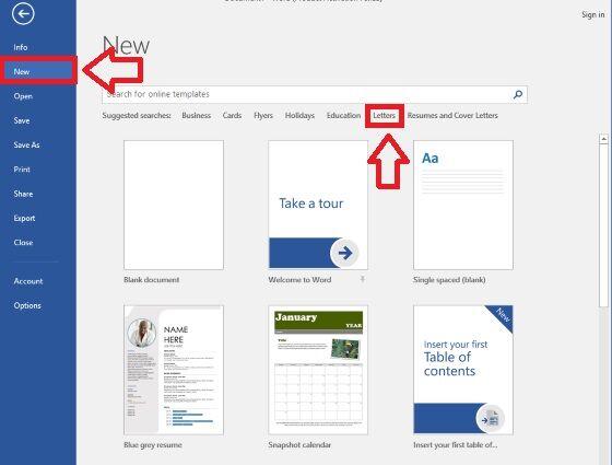 Cara Mudah Membuat Kop Surat Resmi Template 1 1a190