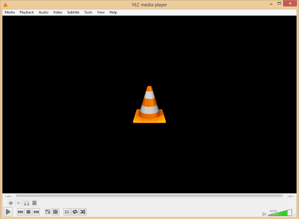 Tampilan Software VLC Media Player