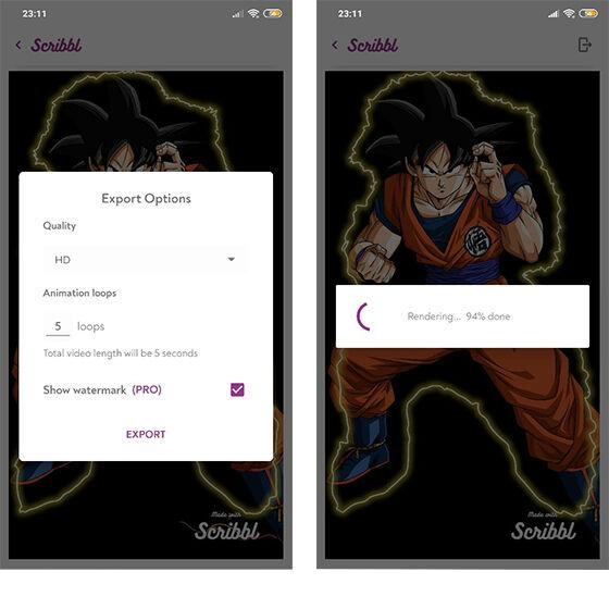 Cara Mudah Membuat Efek Animasi Scribble Dengan Smartphone Android 5 400b5