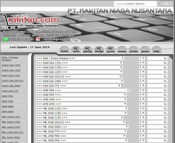 5 Website Untuk Simulasi Harga Rakit PC 6 F7cf8