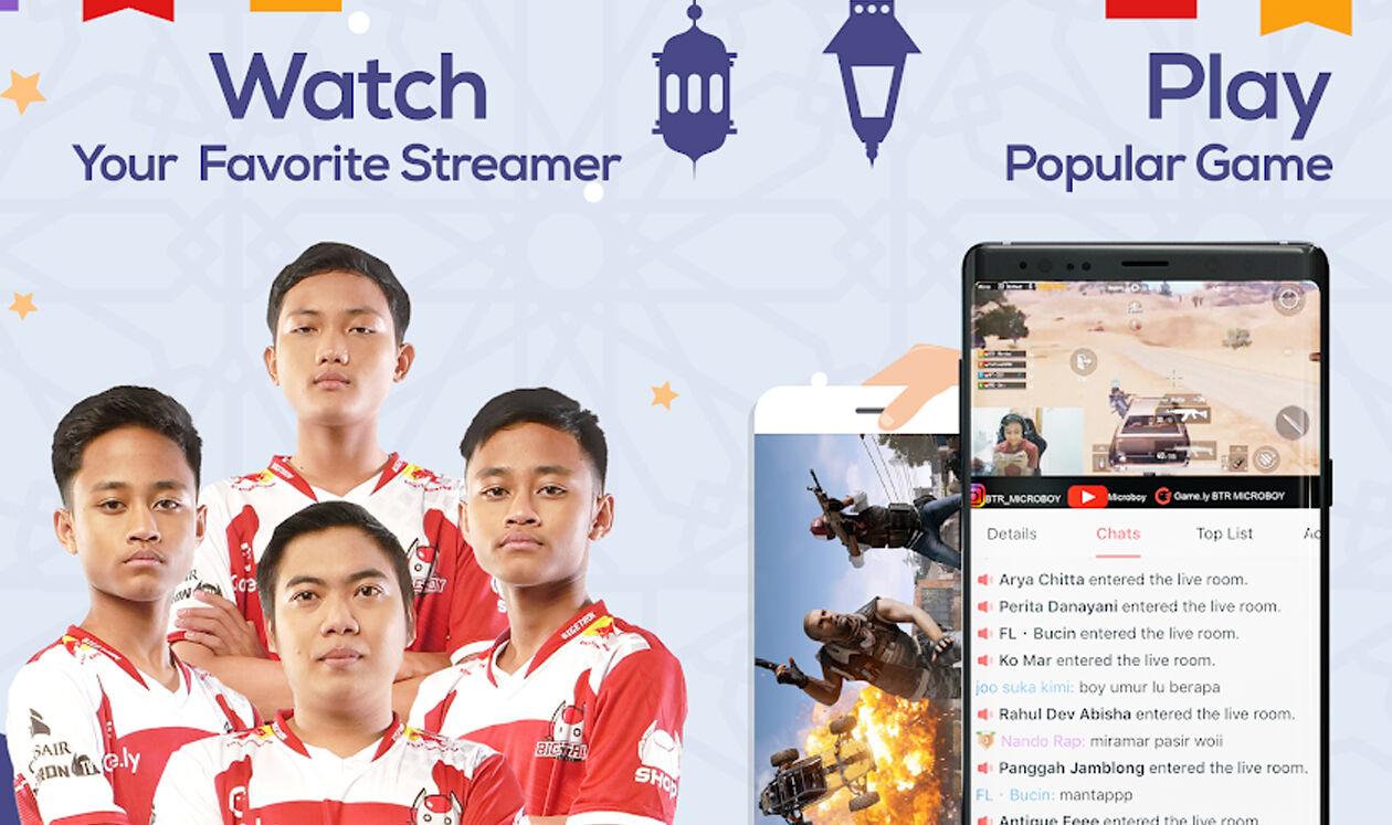 Aplikasi Live Streaming Game Gamely 2b886