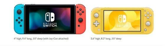 Perbedaan Ukuran Switch Lite Dan Regular 2557d