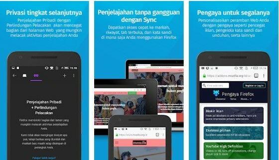 Aplikasi Browser Tercepat Firefox Custom D5315