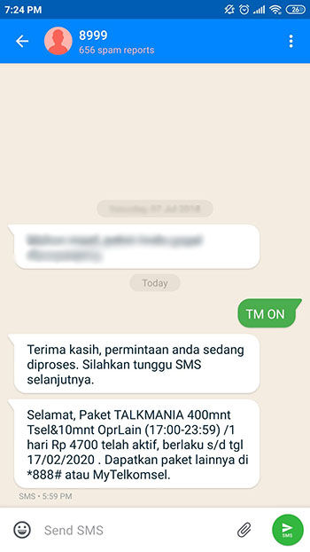 Cara TM Telkomsel A604b