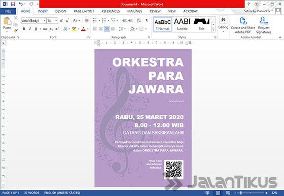 Cara Membuat Poster Dengan Microsoft Word 05 796d0