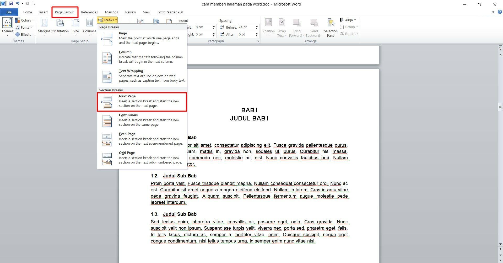 4 Cara Memberi Nomor Halaman Pada Word Mudah Rapi Jalantikus