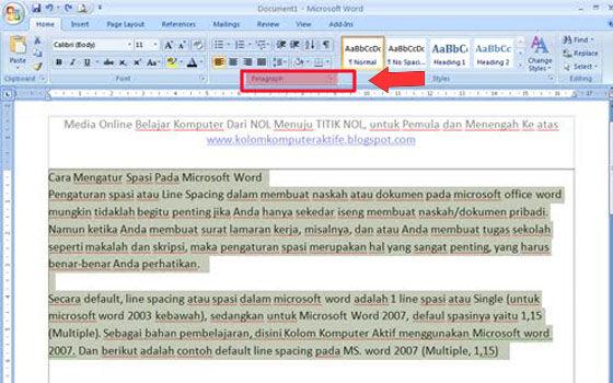 Cara Mengatur Spasi Di Word 2010 C3ef8