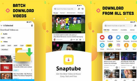 Aplikasi Download Video Snaptube F031e