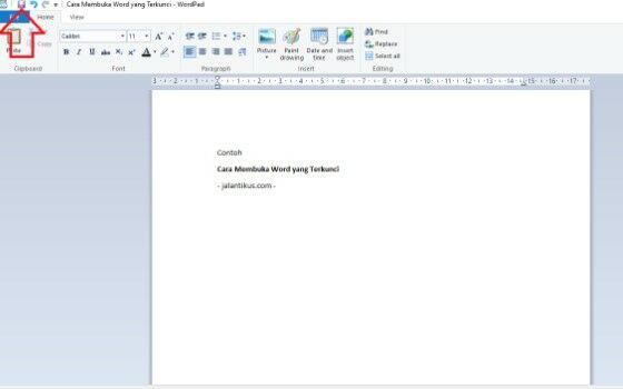 Cara Membuka File Word Yang Terkunci E3773