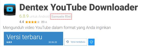 Dentex YouTube Downloader Ec30c