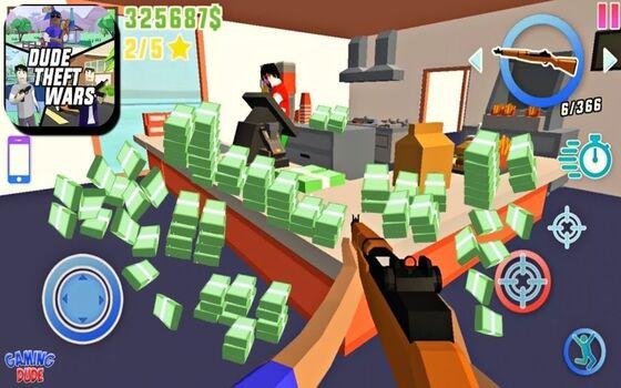Dude Theft Wars Mod Apk Fitur Unlimited Money Ff083