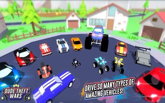 Dude Theft Wars Mod Apk Fitur Unlock Semua Kendaraan 86d0b