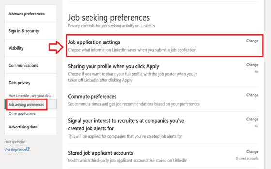 Cara Upload Cv Di Linkedin Klik Job Application Settings 4cb2f