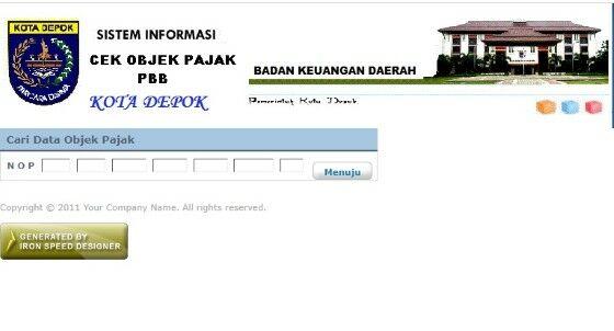 Cek Pbb Online Depok Ddb41