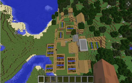 Seed Minecraft Seaside Village 59afa