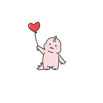 Foto Profil WA Couple Dino Heart Balloon 2 F5c46