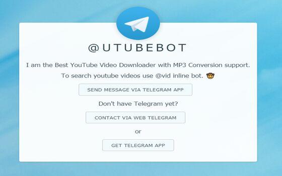 Bot Telegram Yang Berguna Utubebot 96dc4