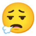 Emoticon Face Exhaling Bc02f