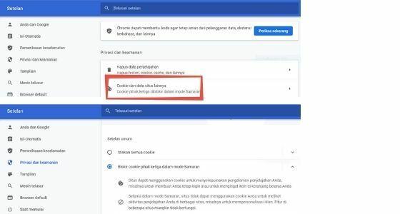 Cara Mengaktifkan Cookie Di Google Chrome B95d4