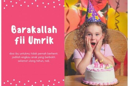 Gambar Kata Kata Selamat Ulang Tahun Untuk Anak Perempuan Custom 184ed