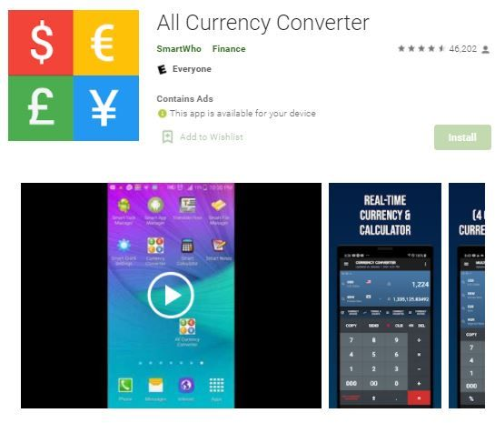 All Currency Converter E3810