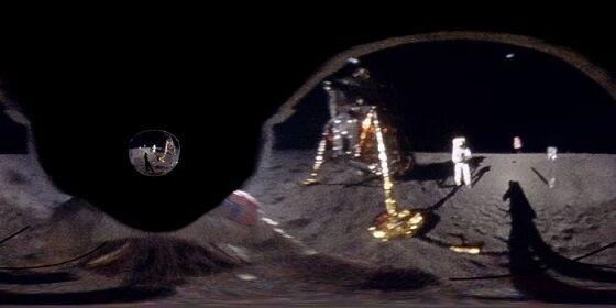 Hasil Rekonstruksi Pemandangan Visor Buzz Aldrin Michael Ranger 0a84a