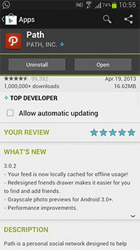 Path For Android Update