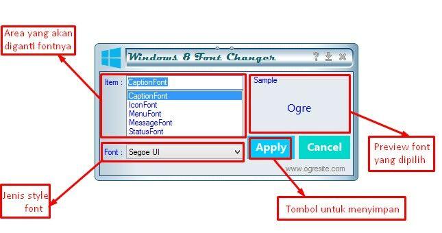 Cara Mengganti Font Windows8 2
