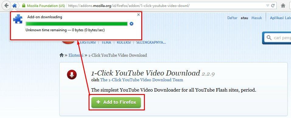 Download Youtube Dengan Plugin Firefox 1