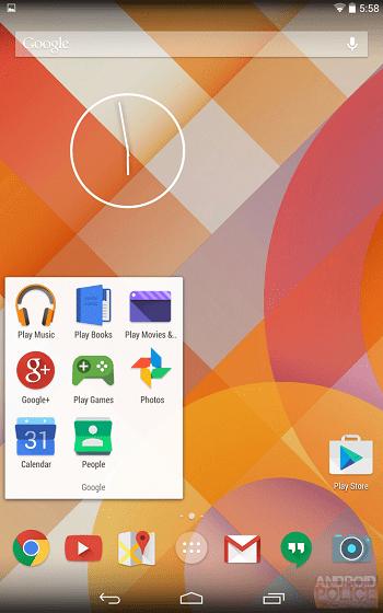 Tampilan Baru Android 1