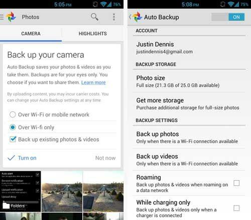 Upload Foto Otomatis Dari Android Google Plus