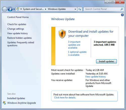 Gagal Shutdown Windows Update