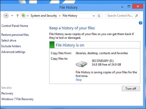 Cara Backup Di Windows 8 File History