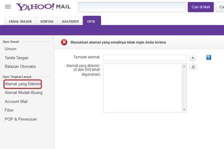 Cara Memblokir Email Yang Mengganggu Di Yahoo 3